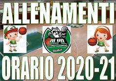 2020-21 ORARIO PROVVISORIO MINIBASKET