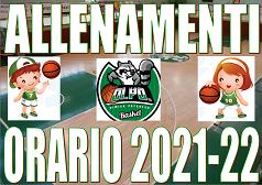 2021-22 ORARIO PROVVISORIO MINIBASKET